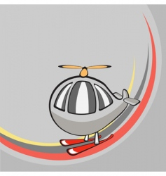 cartoon helicopter vector image