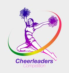 Cheerleaders competition vector