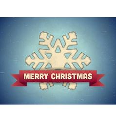 Christmas card with snowflake vector