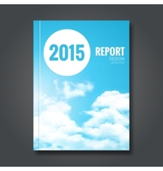 Cloud sky annual report cover brochure vector