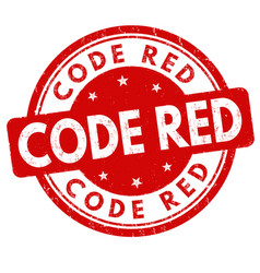 code red sign or stamp vector image