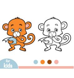 Coloring book monkey vector