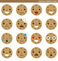 Cookie emoticons vector image