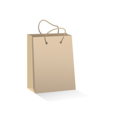 Craft brown paper shopping bag vector