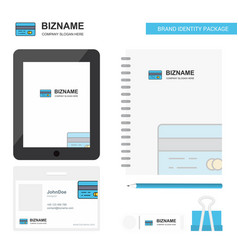 credit card business logo tab app diary pvc vector image