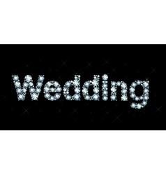 Diamond word wedding vector