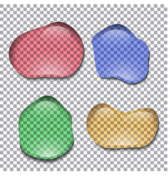 different realistic colorful transparent water vector image