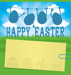 Easter eggs and a sticker vector