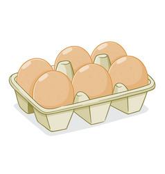 Eggs in a carton vector
