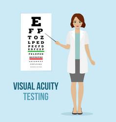 Eye vision test vector