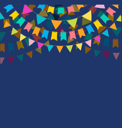 Fiesta banner and poster design with flags vector