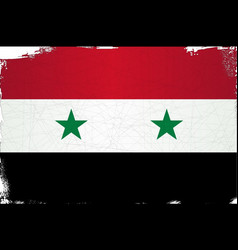 Flag of syria grunge vector