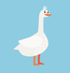 goose farm bird cartoon icon vector image