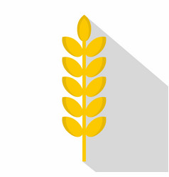 Grain spike icon flat style vector