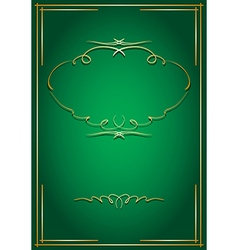 green card with golden decorations vector image