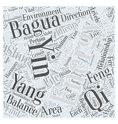 Harmonizing with Feng shui Word Cloud Concept vector