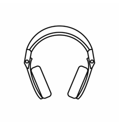 Headphones icon outline style vector image vector image