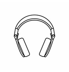 Headphones icon outline style vector