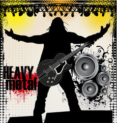 heavy metal vector image