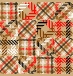 Imitation of a plaid patchwork seamless pattern vector