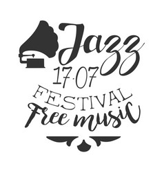 jazz free live music festival concert black and vector image