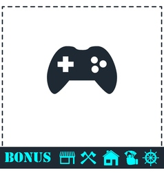 Joystick icon flat vector