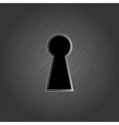 Keyhole on metal background vector