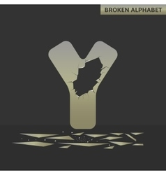 Letter Y Broken mirror vector