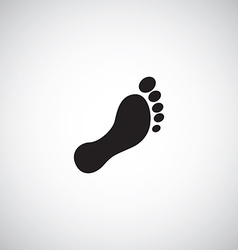 man footprint sign vector image vector image