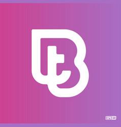 Modern professional logo monograma bt in purple vector