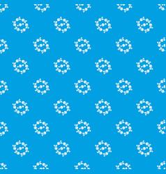 molecule design pattern seamless blue vector image