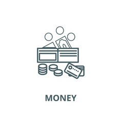 money line icon linear concept outline vector image