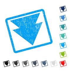 Move down icon rubber watermark vector