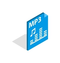 MP3 file format icon isometric 3d style vector image