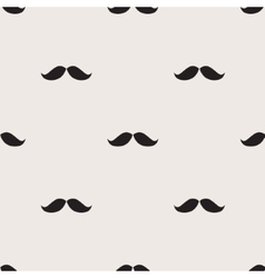 Mustache hipster seamless pattern vector image