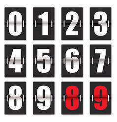 Number clock counter vector