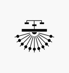 Optimization site site structure web glyph icon vector