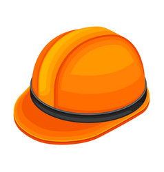 Orange helmet as protective gear for geology vector