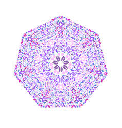 Ornate geometrical abstract isolated floral vector