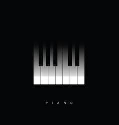 piano key icon vector image