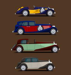Retro cars set vector