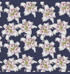 seamless pattern with beautiful white oriental vector image