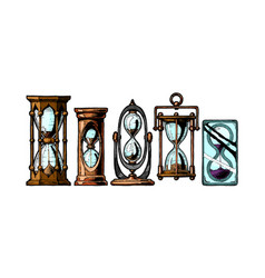set different sandglass vector image