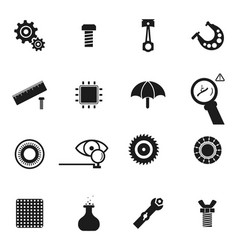 Set of icon of spare parts vector