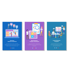 set on topic business vector image