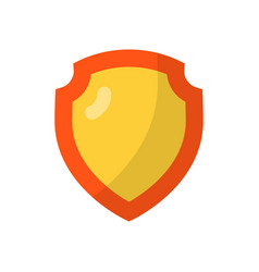 shield flat icon vector image