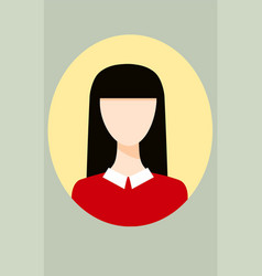 simple cute avatar vector image