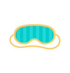 sleep mask for eyes with stripes night accessory vector image