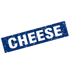 Square grunge blue cheese stamp vector