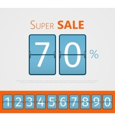 Super sale analog flip clock design With set of vector